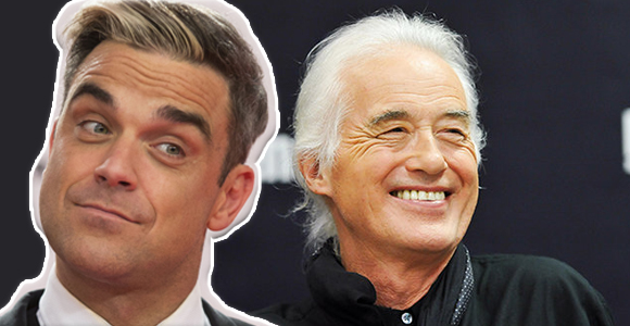 "Robbie Williams acusa a Jimmy Page de ""espiarlo"" y dice que es un ""enfermo mental"""
