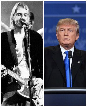 El meme que une a Kurt Cobain con Trump que compartió Courtney Love