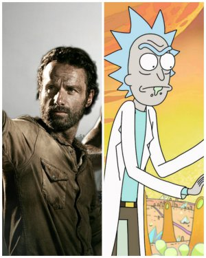 FOTO | El notable guiño de The Walking Dead a Rick & Morty