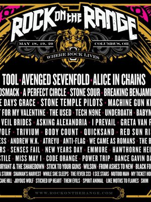 El cartel de Rock on the Range 2018 es el sueño de un rockero
