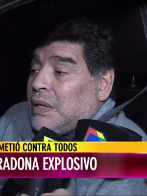 VIDEO | El deplorable estado en que Maradona conversó con medios argentinos en su regreso al país