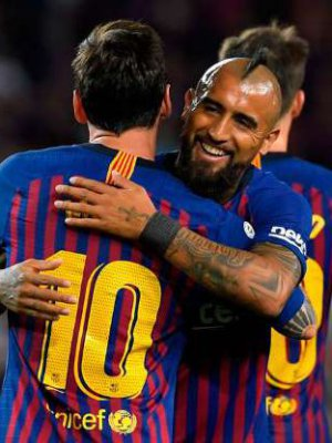 VIDEO | Messi anotó el primer gol para el Barcelona con esta notable asistencia de Arturo Vidal