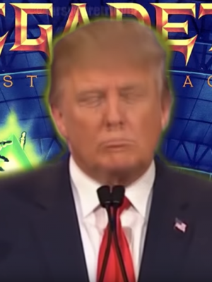 VIDEO | Donald Trump canta 'Holy Wars' de Megadeth y las redes sociales explotan
